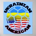 Le football américain ukrainien d'affiche du footb