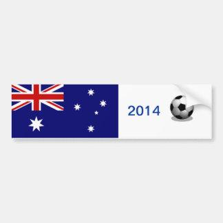 Le football australien autocollant de voiture
