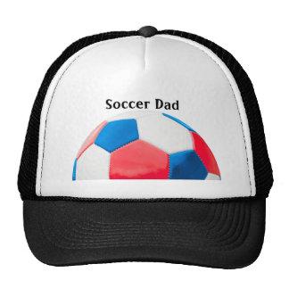 Le football blanc et bleu rouge casquette