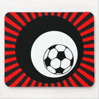 le football : cercles : tapis de souris
