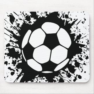 le football : cercles : tapis de souris