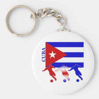 Le football Cuba Porte-clé Rond