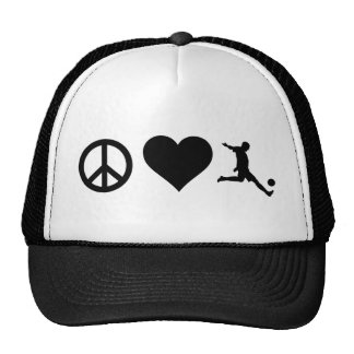 Le football d'amour de paix casquette de camionneur