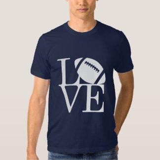 Le football d'amour tee-shirts