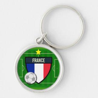 Le football de la France Porte-clé Rond Argenté