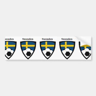 Le football de la Suède Autocollant De Voiture