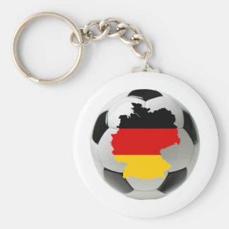 Le football de l'Allemagne Porte-clé Rond