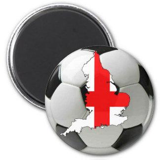Le football de l'Angleterre Magnet Rond 8 Cm