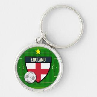 Le football de l'Angleterre Porte-clé Rond Argenté