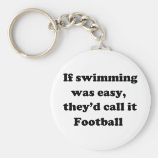 Le football de natation porte-clé rond