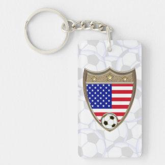 Le football des Etats-Unis Porte-clé Rectangulaire En Acrylique Double Face