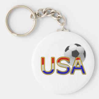 Le football des Etats-Unis Porte-clé Rond