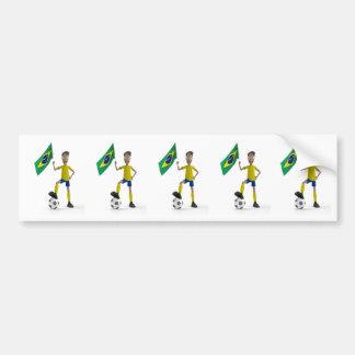 Le football du Brésil Autocollant De Voiture