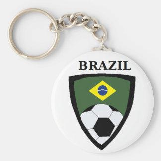 Le football du Brésil Porte-clé Rond