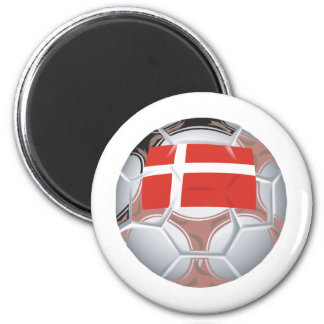 Le football du Danemark Magnet Rond 8 Cm