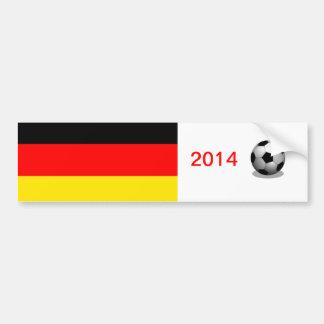Le football du Deutschland Autocollant De Voiture