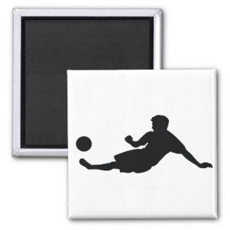 Le football du football magnet carré