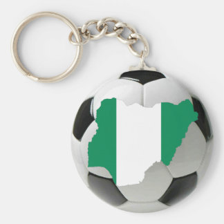 Le football du Nigéria Porte-clé Rond