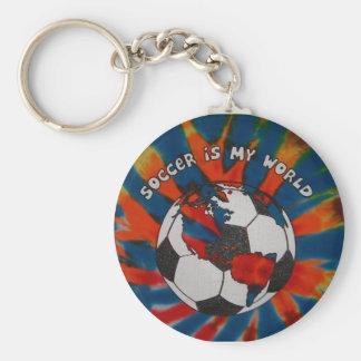 Le football est mon monde porte-clé