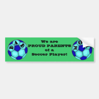 Le football fier Parents l'adhésif pour pare-chocs Autocollant De Voiture