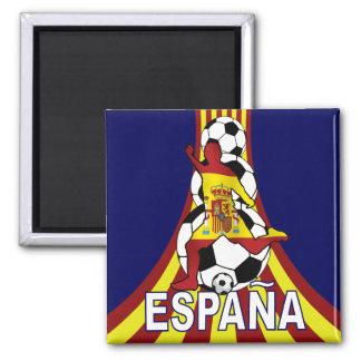 Le football Fútbol d'Espana Espagne Magnet Carré