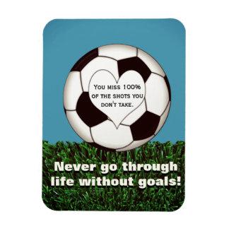 Le football inspiré magnet souple
