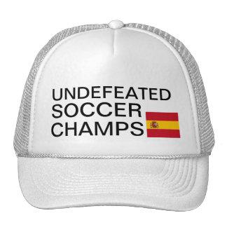 Le football invaincu mâche le chapeau de l'Espagne Casquette Trucker