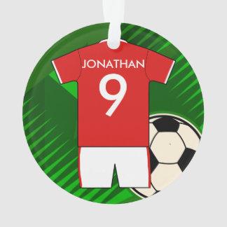 Le football Jersey en rouge et le blanc personnali