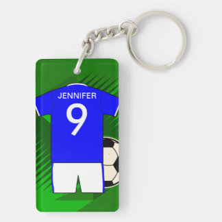 Le football Jersey nommé personnalisable Porteclés