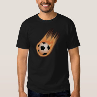 le football, le feu de ballon de football t-shirts