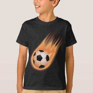 le football, le feu de ballon de football tee shirts