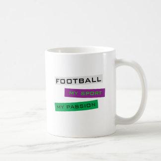 Le football mon sport ma passion tasse à café