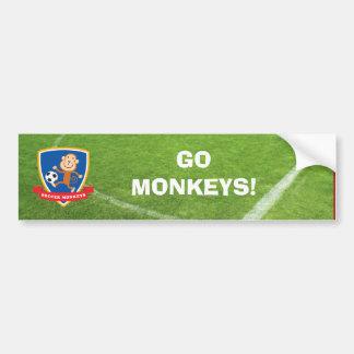 Le football Monkeys l'adhésif pour pare-chocs Autocollant De Voiture