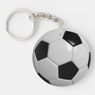 Le football porte-clé rond en acrylique double face