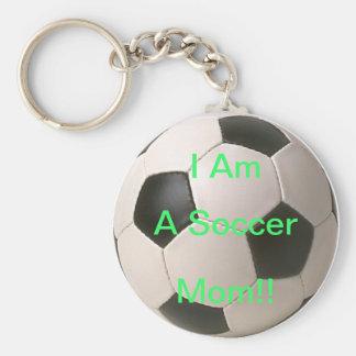Le football porte-clé rond