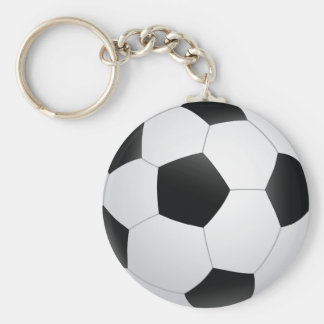 le football porte-clé rond