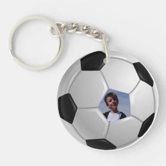 Le football porte-clé rond en acrylique une face
