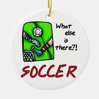 Le football quoi encore est là T-shirts et cadeaux Ornement Rond En Céramique