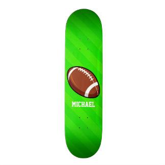 Le football ; Rayures vertes au néon Skateboard 20 Cm