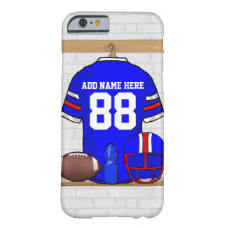 Le football rouge blanc bleu personnalisé Jersey Coque iPhone 6 Barely There