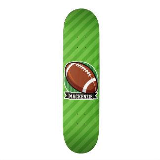 Le football sur les rayures vertes skateboards cutomisables