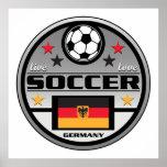 Le football vivant Allemagne d'amour Posters