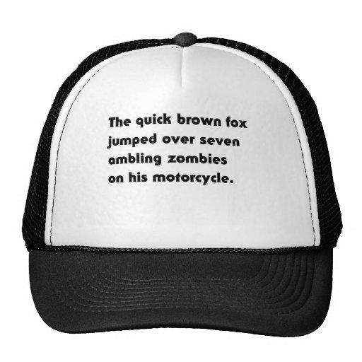Le Fox rapide de Brown sauté au-dessus de… T-shirt Casquettes De Camionneur