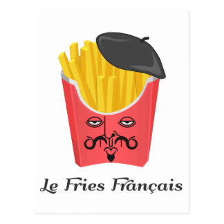 Le French Fries from France Postcard
