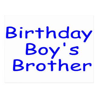 Le frère du garçon d anniversaire carte postale