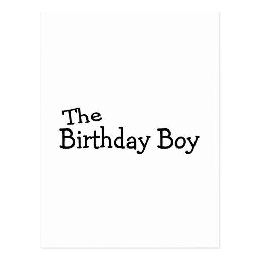 Le garçon d'anniversaire carte postale