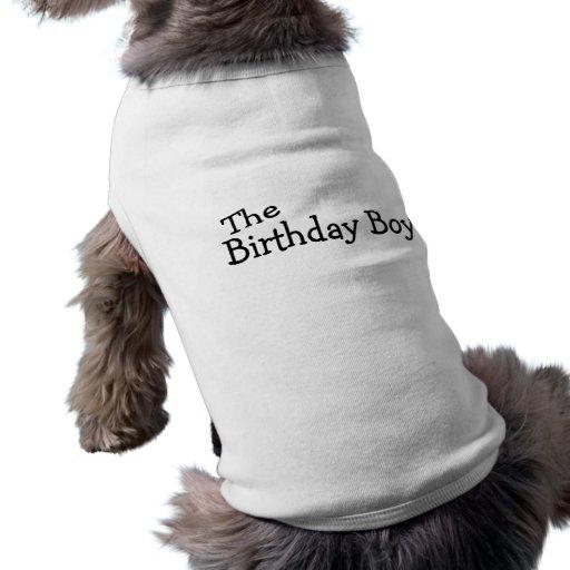 Le garçon d'anniversaire t-shirts pour animaux domestiques
