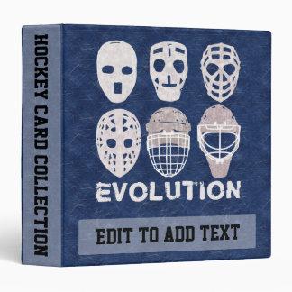 Le gardien de but personnalisable d'hockey masque classeurs vinyle