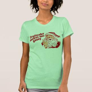 Le gâteau de fruits secs rend Père Noël grisouteux T-shirts