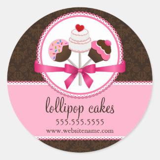 Le gâteau saute des joints de boîte de boulangerie sticker rond